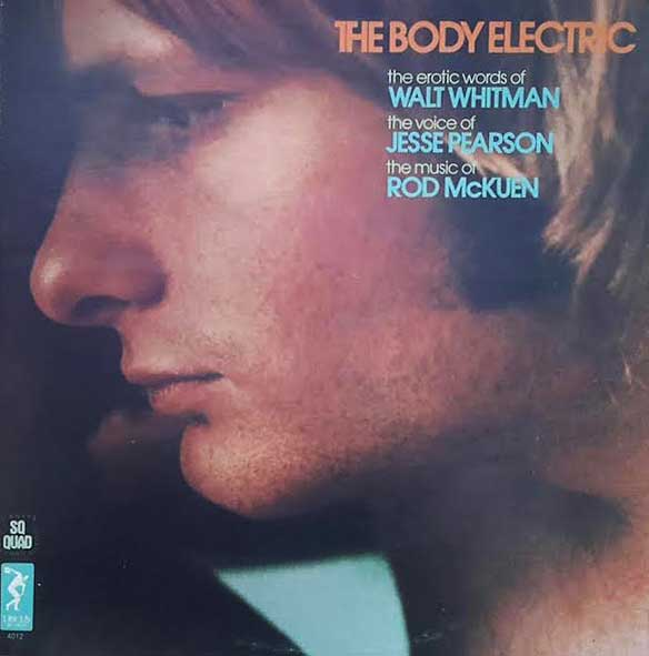 """This 1970 album by Jesse Pearson and Rod McKuen sets the """"erotic words"""" of Walt Whitman to music. (Courtesy of Ed Centeno)"""