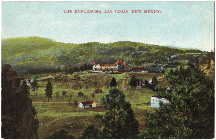 Nestled in the mountains near Las Vegas, New Mexico, the Motezuma Resort offered guests a lavish heath spa with several hot springs when it opened in 1882.