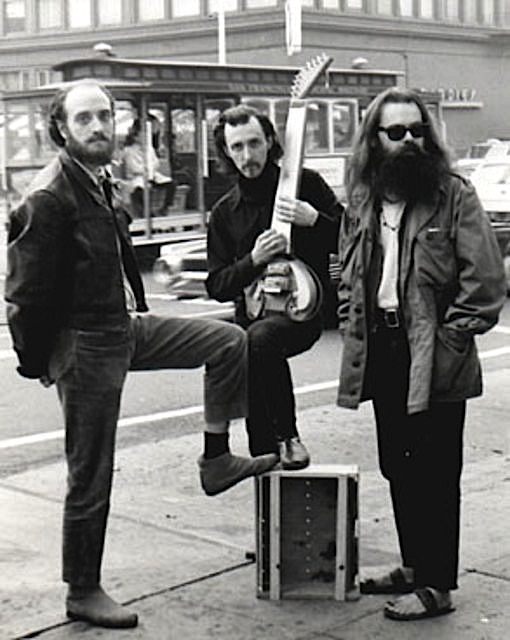 The core musicians in the first incarnation of Light Sound Dimension were Fred Marshall (left) and Jerry Granelli (center), seen in this circa 1968 photograph on California Street with Bill Ham.