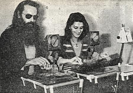 After Bob Fine left Europe, Sophie Houdet assisted Bill Ham during Light Sound Dimension performances.