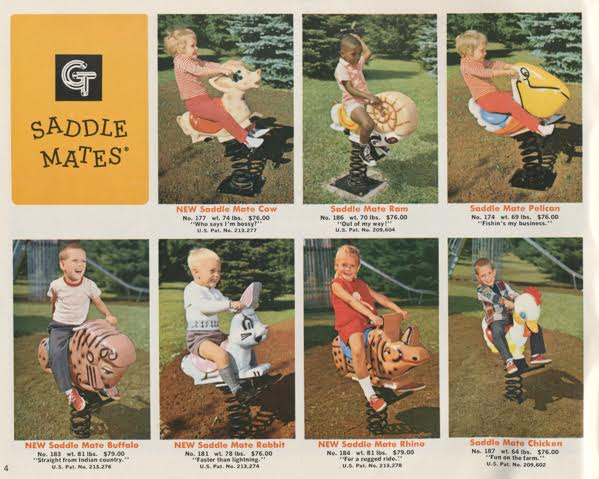A page from the 1971 GameTime catalog offering rideable Saddle Mates. (Courtesy of Brenda Biondo)
