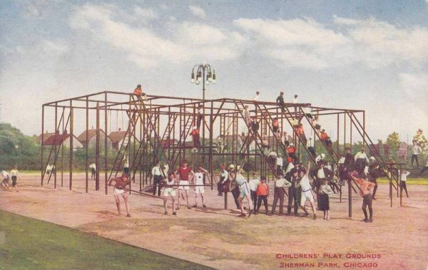 postcard-chicago-sherman-park-childrens-play-ground-giant-monkey-bars-1910