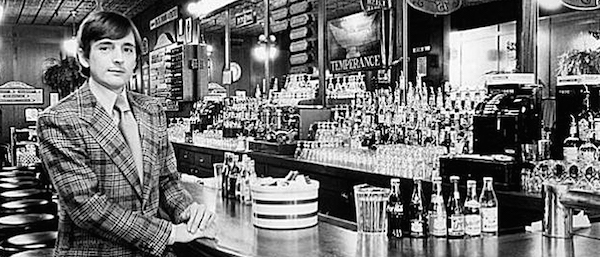 Young Perry Butler at his namesake fern bar in San Francisco. (Via Perry's)