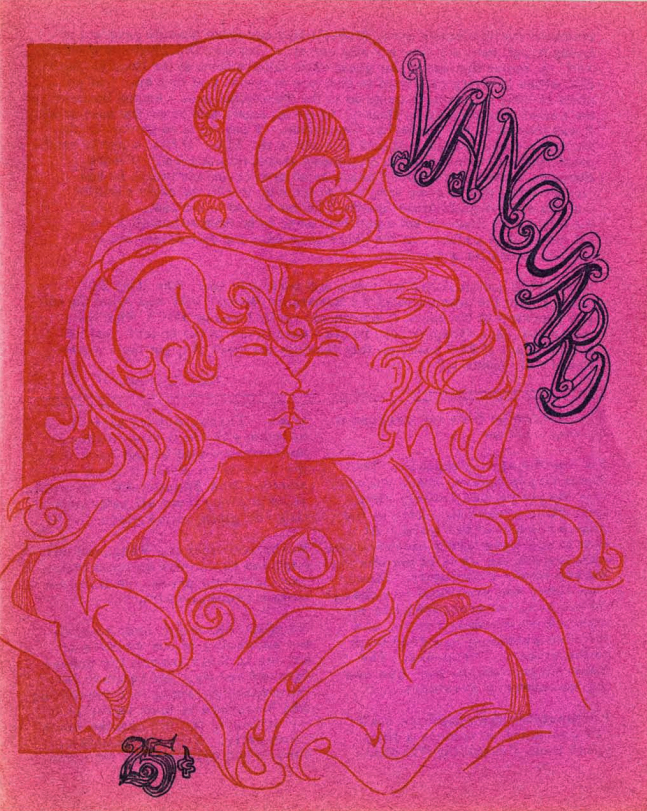 The cover of Vanguard Magazine, Volume 1, Issue 9, from 1967. Courtesy of the Gay, Lesbian, Bisexual, Transgender Historical Society.