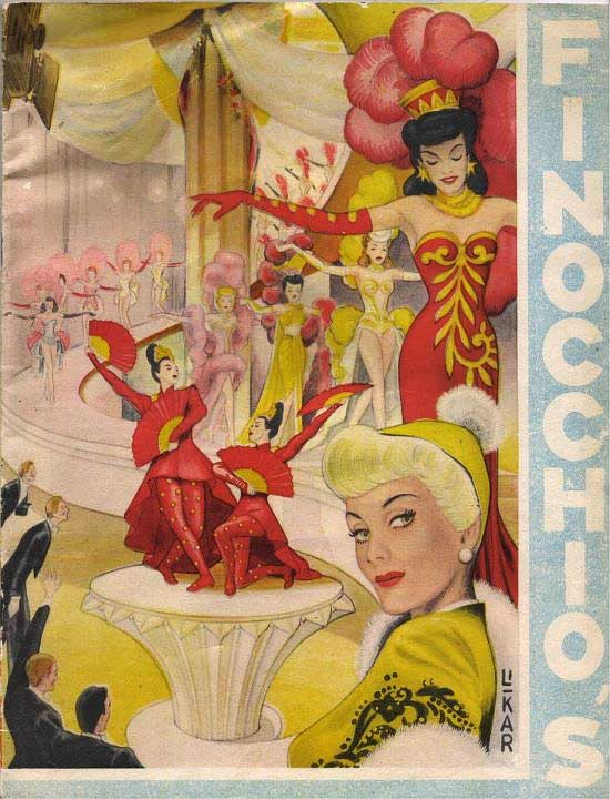 A program for a drag show at Finocchio's, circa late 1940s, when San Francisco's booming naval industry helped the city's queer nightlife blossom.
