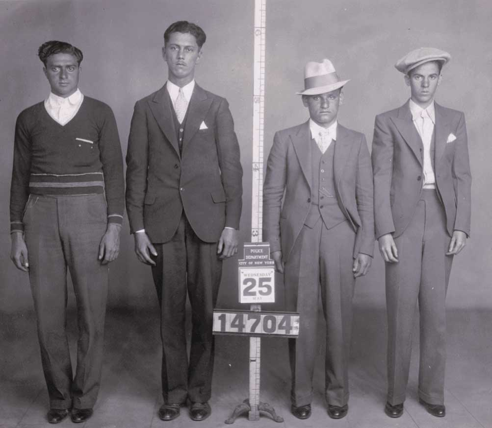 From left to right: Alfred Cappola, Morris H. Stenner, Abe Sperling, and Paul Fishback, photographed in New York City during the early 20th century. Courtesy of Mark Michaelson.