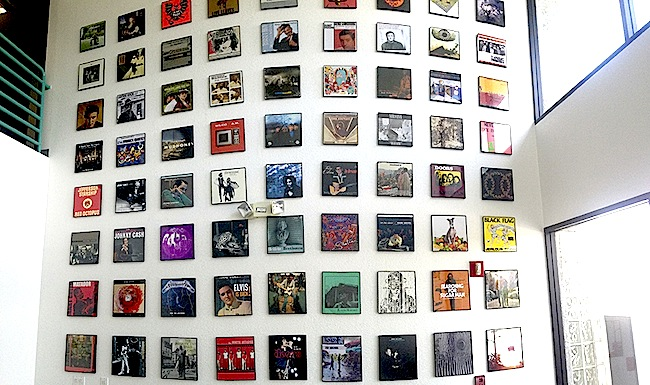 A small fraction of the album covers printed at Stoughton in the company's lobby.