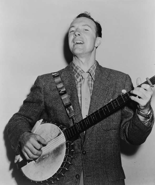In the 1940s and '50s, Pete Seeger's love the banjo helped start a folk-music revival. Via Wikipedia.