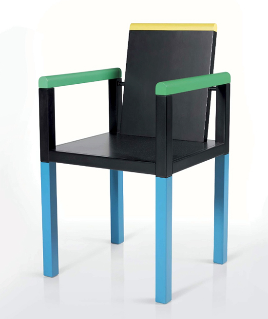 george j. sowden %22palace%22 chair, 1983 memphis lacquered wood p.35