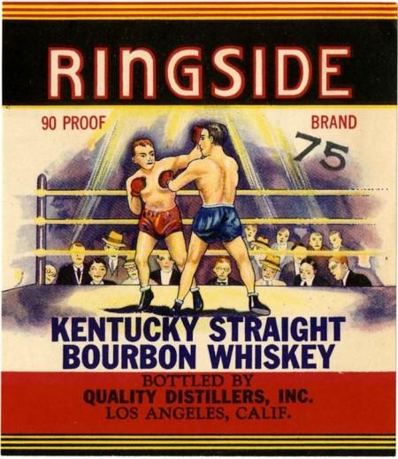 Whiskey label, Ringside Kentucky straight bourbon whiskey, Quali