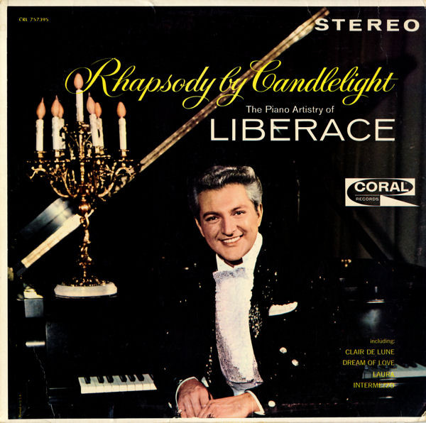 "Garrett played the freshly recorded ""Love is a Drag"" in his studio while shooting the 1962 cover image for Liberace's ""Rhapsody by Candlelight."""