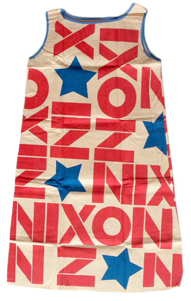A Richard Nixon dress made for the 1968 Republican convention.