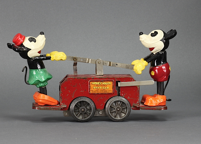 At only a buck a piece, the Mickey and Minnie handcar, a wind-up toy that ran on Lionel's O-gauge rails, helped the company emerge from receivership.