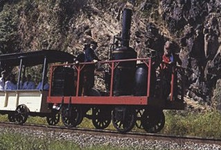 The first steam locomotive made in the U.S.A was the Tom Thumb, which had a vertical boiler.