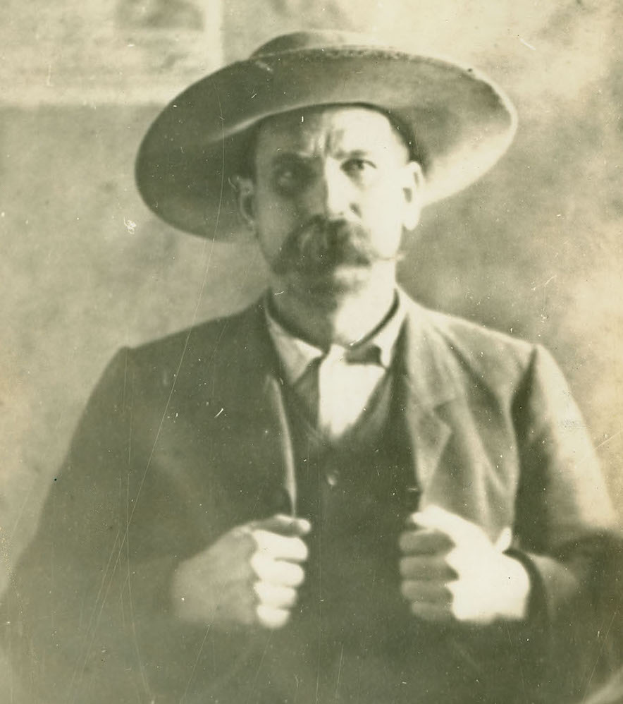 "David ""Dave"" Walker was  the chieftain of the Christian County Bald Knobbers. He was hanged in Ozark, Missouri, on May 10, 1889, for his involvement in the murders of William Edens and Charles Greene. (Courtesy of The State Historical Society of Missouri)"