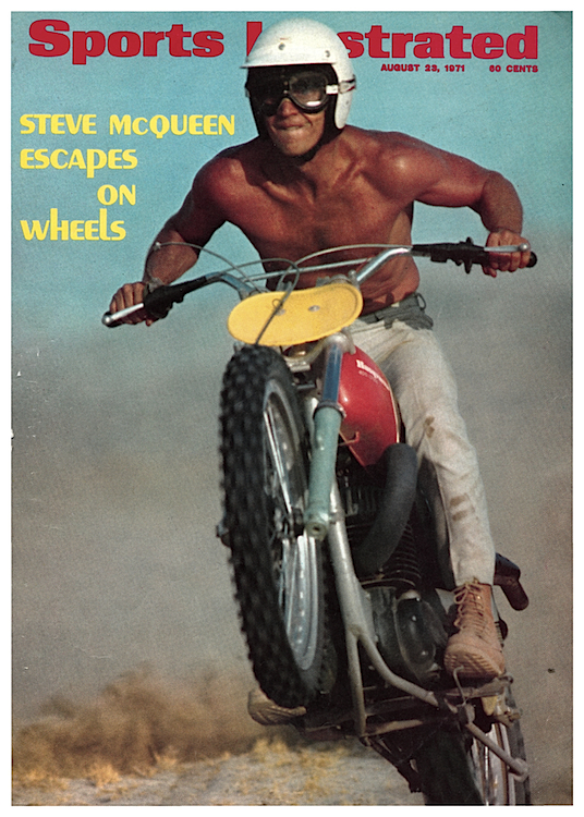 "As this ""Sports Illustrated"" cover from 1971 shows, McQueen was in good shape into his 40s. Via Sports Illustrated."