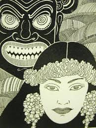 "Don Blanding's 1935 illustration, ""Warrior."""