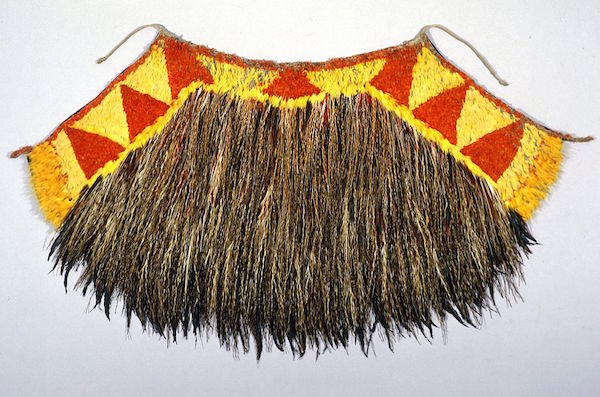 Native Hawaiians gave British explorer Captain James Cook this featherwork cloak. It's now part of the collection at The Australian Museum in Sydney. (Via WikiCommons)