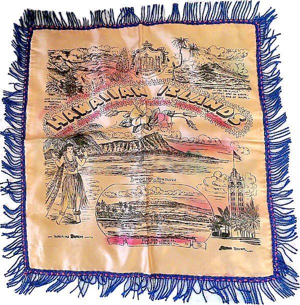 U.S. sailors also bought Hawaiian-themed souvenir pillow cases during World War II to send to their mothers, wives, or girlfriends back home.