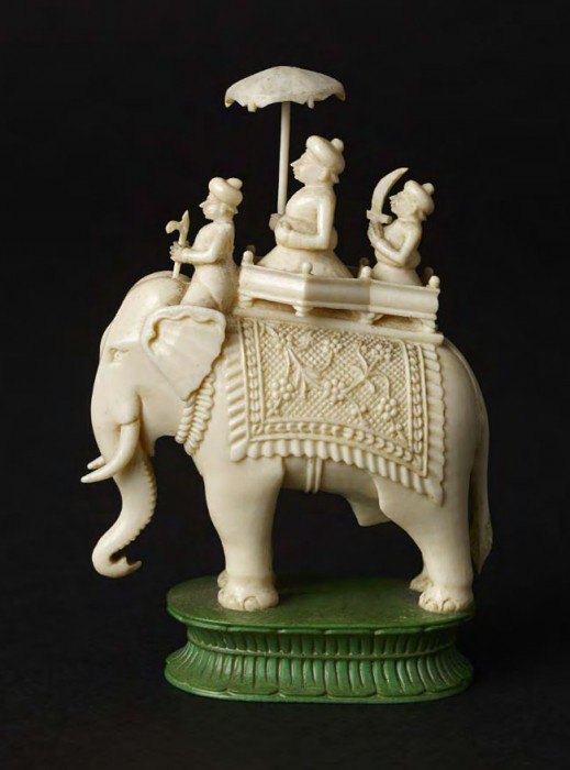 This intricate ivory piece comes from a John Company set, circa 1850.
