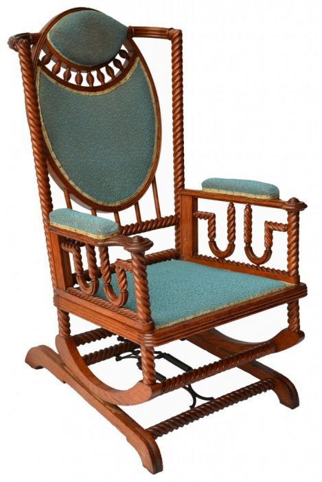 A Hunzinger rocking chair, circa 1890. Via Southampton Antiques.