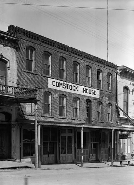 The Red Dog occupied the first floor of the Comstock House, which was built in 1863. Today, the Red Dog continues to draw music lovers to Virginia City, Nevada. Photo via the Red Dog.