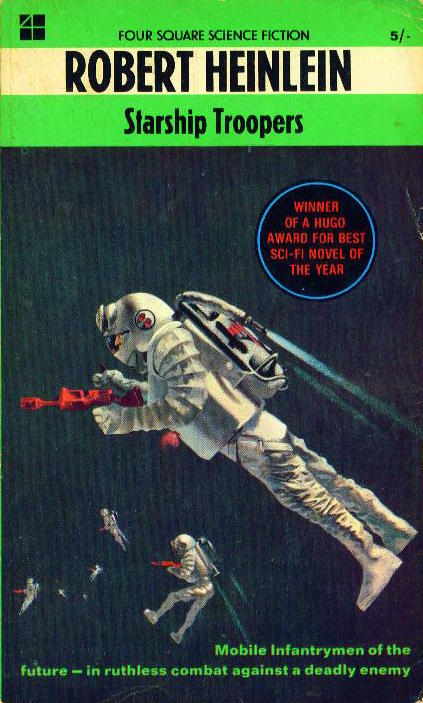 In Robert Heinlein's 1959 novel Starship Troopers, boys take up arms and fight aliens alongside their fathers.