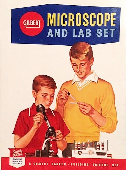 A.C. Gilbert—also known for Erector Sets, American Flyer model trains, and the Gilbert Hall of Science—liked to emphasize his science kits were meant for boys. (Via eBay)