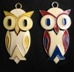 Vintage Costume Jewelry Owl Pendants