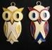 Vintage Costume Jewelry Owl Pendants